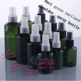 Green Plastic Spray Bottles Mist Australia - Capacity 200 ML25pcs empty plastic cosmetic bottles of inclined shoulder, Dark green 200ml fine mist spray bottle