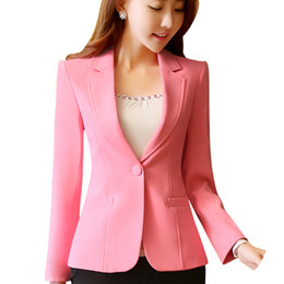 ZVAQS Women Blazers and Jackets Famale Slim Korean Small Suit New Short Ladies  Coat Long-sleeved Casual Fashion Outwear LX024 1df0d1f51368
