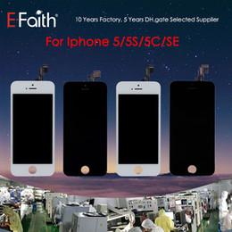 Vidrio Tianma de alta calidad para iPhone 5 5G 5C 5S Grado A +++ Pantalla LCD negra con pantalla táctil digitalizador Envío de DHL gratis