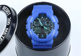 Blue running watches online shopping - 2018 running Men Military big Watch Wristwatch ga100 LED Quartz Clock Sport Male relogios masculino Sport S Shock casual Watch Men G Watch
