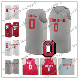 125313268 NCAA Ohio State Buckeyes  0 DAngelo Russell 1 Jae Sean Tate 2 Musa Jallow 3  C. J. Jackson Red White Gray College Basketball Jerseys