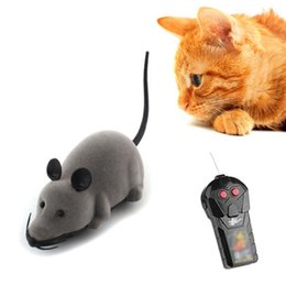 Discount toy rats wholesale - Mouse Pet Wireless Remote Control Rat Mouse Toy Moving For Cat Playing Chew C puppy toys outdoor rc toy Black Cat