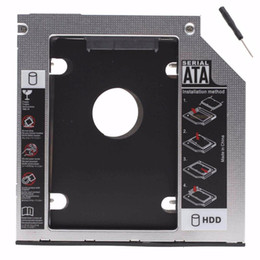 """ssd laptop hard drive 2019 - 2.5"""" SATA Aluminum 2nd Hard Disk Drive SSD HDD Caddy Adapter bay for Asus G74 G74J G74JH G74S G74SW G74SX Series la"""