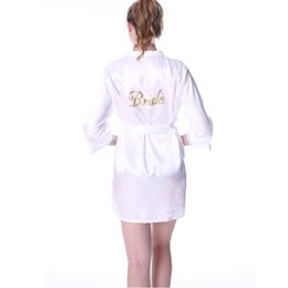 $enCountryForm.capitalKeyWord NZ - Customized Robe Night Dress Satin Soft Bride Gown Sexy Kimono Wedding Robe Dresses Women Nightgown And Girls Bridesmaid pajamas S1015