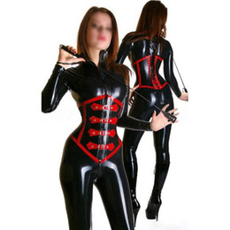 Hot Sexy Lingerie Women Costume NZ - 2018 New hot exotic handmade female women Latex Catsuits with corset full Suit Fetish Uniform tight cekc lingerie Costumes