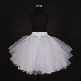 $enCountryForm.capitalKeyWord NZ - Wholesale In Stock Petticoats Three Layer Net White Flower Girl Dress Petticoat Cheap Child Crinolines Underskirt
