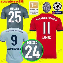 Thailand Bayern Munich JAMES RODRIGUEZ Jersey de fútbol 2018 2019  LEWANDOWSKI MULLER KIMMICH 18 19 HUMMELS Camiseta chandal de fútbol  Champions League 6d09d28e25466