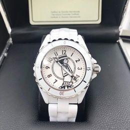 Ladies bLack ceramic sapphire watch online shopping - Luxury AAA Brand Lady White Black Ceramic Sapphire Glass Mirror Watches High Quality Quartz Fashion Exquisite Women Watches Wris