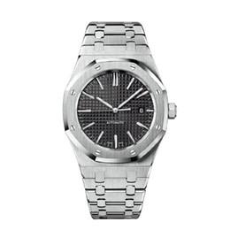 aaa роскошные мужские автоматические механические часы классический стиль 42 мм полный нержавеющая сталь ремень верхние высококачественные наручные часы сапфир 15400ST