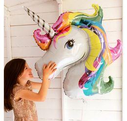 $enCountryForm.capitalKeyWord Australia - Aluminum Foil Balloon 110*80cm for Birthday Party Cartoon Unicorn Rainbow Polly Inflatable Ballon Gifts