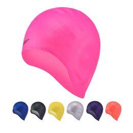 5a572512 Adultos silicona gorro de baño mujer piscine gorros de natación hombres  gorras gorro natación natación sombrero piscina fábrica al por mayor