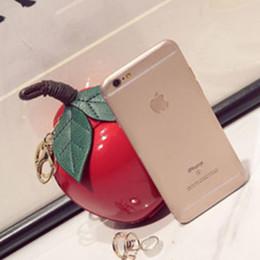 China 2018 Cute Cartoon Bags Apple Shape for Girls Mini Crossbody Bags Personality Purse Pendant zero Purse cheap pendant apple green suppliers