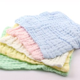 cotton baby washcloths 2019 - 30*30cm Baby Face Towel Microfiber Absorbent Drying Bath Beach Towel Washcloth Swimwear Baby Cotton Kids cheap cotton ba