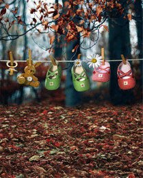 $enCountryForm.capitalKeyWord Canada - Digital Printed Baby Shoes Toy Bear Autumn Forest Photography Backdrops Vinyl Defoliation Trees Outdoor Photo Backgrounds for Studio