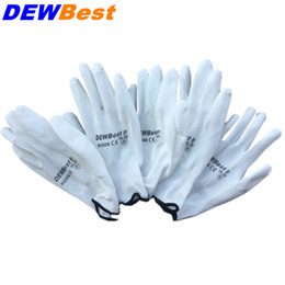$enCountryForm.capitalKeyWord Australia - DEWBest New Arrival 12 Pairs Black Nylon PU Safety Work Gloves Builders Grip For Palm Coating and Coated Finger Gloves D18110705