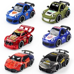 remote systems Australia - RC Car Four-way remote control car, Avenger hero, Captain America, Hulk, Iron Man, Toy car