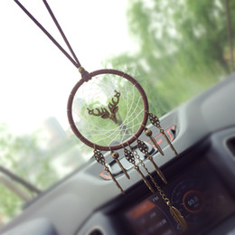 Handmade metal toys online shopping - Car dreamcatcher Pendant Vintage Indian Style manual Net Ornament Handmade Wind chime Wall Hanging Kids Toys Gift Home Decor AAA883