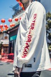 $enCountryForm.capitalKeyWord Canada - TKPA Mens Women Original Design Skateboard Long Sleeve Tshirt Dragon Letters Print Loose Sweat Top Winter New Arrival Couples Tshirt
