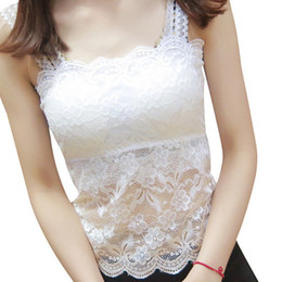 tube cup free NZ - 30PCS LOT SINGYOU Spring Summer All-match Lace Sweet Women Basic Tube Top Black White Hollow out Sexy Chest Wrap