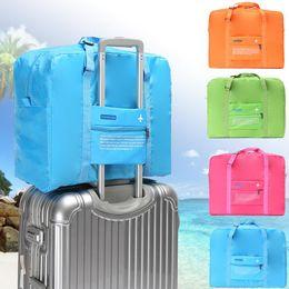 $enCountryForm.capitalKeyWord Australia - New airplane travel bag folding portable single - shoulder hand suitcase portable bag