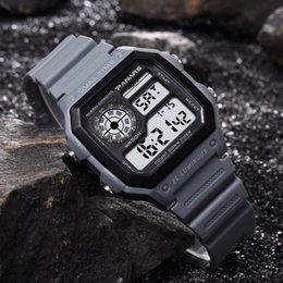 Men Digital Wrist Watches Australia - Hot Sales 50M swimming waterproof digital watch multi function Led watch men unique wrist clock relogio masculino