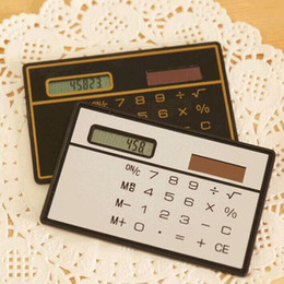 Chinese  Small Slim Pocket Calculator Stationery Card Portable Calculator Mini Handheld Ultra-thin Card Calculator Solar Power ZA5573 manufacturers