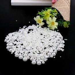 $enCountryForm.capitalKeyWord NZ - 1000pcs 2-10mm Shiny Rice White Half Round Imitation Pearl Nail Design Beads Flat Back Gems Pearl Nail Art Phone DIY Decoration