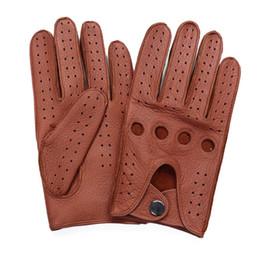 $enCountryForm.capitalKeyWord UK - High Quality Men'S 2018 NewHot Sale Deerskin Gloves Four Seasons Fashion Driving Genuine Leather Full Finger Gloves Men AM032-5