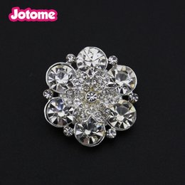 Hot Sell Women Clear Bling Crystal Flower Rhinestone Shank Back Buttons for Wedding  Invitation Card Bouquet Shoes f19e982768c2