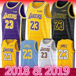 2018 2019 Neue Saison 23 LeBron James Jersey Los Angeles Lakers Männer Jugend Kinder 77 Luka Doncic James 18 19 Die Stadt Basketball Jersey