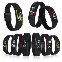 famous brand men bracelets 2019 - 2017 Famous SELFLOVER Brand Simple Watch Girl Jelly Silicone Digital LED Sports Bracelet Wrist Watch Fashion Women Men W