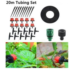 Hose Systems Canada - 20M DIY Automatic Micro Drip Irrigation System Plant Watering Garden Hose Kits With Adjustable Dripper Garden Watering Kits BH02