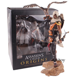 Discount pvc assassins creed toy Assassins Creed Assassin's Creed Origines Bayek Protecteur with his eagle PVC Action Figure Model Toy Gift 28cm