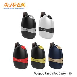 Discount panda black metal - Authentic Voopoo Panda Kit Portable All-In-One Aio Pod System Kit Built-in 1100mAh Battery with 5ml Replacement Pod