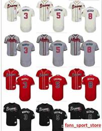 $enCountryForm.capitalKeyWord Australia - 2019 custom Men's Women Youth Majestic Braves Jersey #5 Freddie Freeman 8 Bob Uecker 3 Dale Murphy Home Black Red white Kids Baseball J