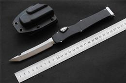 "Tactical Defense Gear Australia - Automatic MIKER CNC knife halo VI Knife (4.5"" Satin) single D2 Blade Aluminum Alloy Handle Tactical knife Survival gear knives EDC tools"