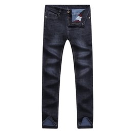Smart Clothing NZ - Jeans man mens jeans brand 2018 cotton Straight winter clothes Smart Casual mid loose heavyweight