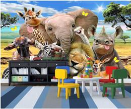 $enCountryForm.capitalKeyWord Australia - 3d wallpaper custom photo Cute cartoon prairie animal Children's Room Home decor 3d wall murals wallpaper for walls 3 d living room
