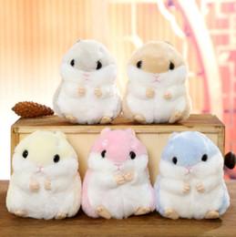$enCountryForm.capitalKeyWord NZ - 10CM Mini Hamster Pom Pom Toy Women Fluffy Bunny Hamster Toy Doll Bag Car Key Ring Keychain Jewelry Gift