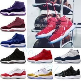 eca2ce8c4bcc7a 11 PRM Heiress Black Stingray Gym Red WIN LIKE 82 96 Space Jam 45 Men  Basketball Shoes 11s Athletic Sport Sneakers women Velvet Heiress wine