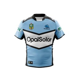 7fb14f14121 CRONULLA SHARKS 2018 HOME JERSEY New Zealand The Sharks Rugby Jersey NRL  National Rugby League Cronulla Sutherland size S-3XL (Can print)
