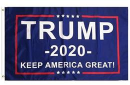 90 * 150 cm Bandera de Trump 2020 Donald Flags Keep America Great Again Poliéster decoración Banner para el presidente de EE. UU. en venta