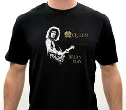 Plus Size Rock Clothing NZ - Clothing Plus Size S M L Xl Xxl Men'S Short Brian May Guitarist Queen Rock Band Size:S-M-L-Xl-2Xl-3Xl O-Neck Christmas Shirt