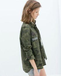 Military woMan coats online shopping - Hip Hop Short Basic Sleeve Chaqueta Militar Coat Women Green Military Jackets Slim Outerwear Women Jacket Blouses Coats