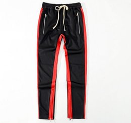 $enCountryForm.capitalKeyWord UK - 2018 New Green Colour Fear Of God Fifth Collection FOG Justin Bieber side zipper casual sweatpants men hiphop jogger pants 4 style S-XL