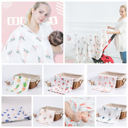 Infant stroller cover online shopping - baby Muslin blankets Bamboo Baby Swaddles Soft Newborn Blanket Infant Wrap Sleepsack Stroller Cover Play Mat design KKA5746