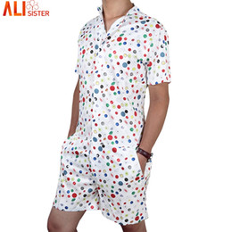 1900ee7e56db Men roMpers online shopping - Alisister Men S Rompers Short Sleeve Jumpsuit  Romper Playsuit Beach Overalls