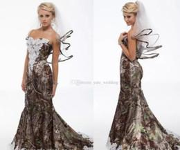 $enCountryForm.capitalKeyWord Australia - 2018 Elegant Mermaid Camo Wedding Dresses Sweetheart Appliques Satin Backless Country Wedding Dresses Camouflage Cowgirls Bridal Gowns