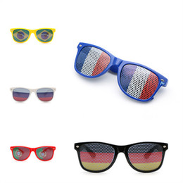 32096b173cc3 New Arrival Russia World Cup Glasses National Flag Mesh Hole Luxury Brand  Designer Sunglasses Multi Colors Eyewear For Festival Party