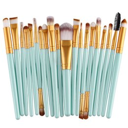 Discount makeup lips brush 20pcs Tools makeup brushes set for eyes cosmetics eye shadow eyebrow lips 22 colors available DHL Free make-up tools & a